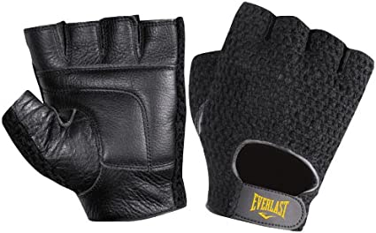 CHZL MENS Genuine LEATHER//Velcro Weight Lifting Fitness Gym GLOVES LARGE