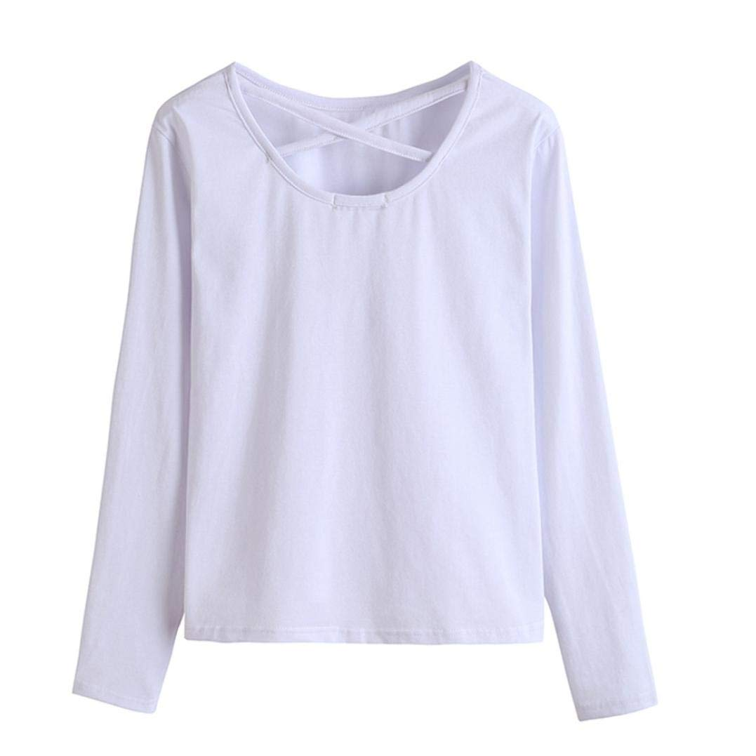 MEIbax Mujeres Bordado Apliques Manga Larga Sudadera Jersey Tops Blusa Rosa Camisetas para Personalizar Camiseta Promocional Camisetas Hermosas: Amazon.es: ...