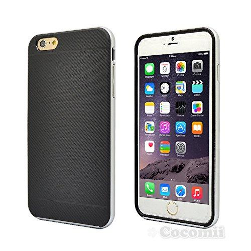 Cocomii Demon Armor iPhone 6S Plus/6 Plus Case New [Heavy Duty] Tactical Carbon Fiber Grip Slim Fit Shockproof Bumper [Military Defender] Full Body Cover for Apple iPhone 6S Plus/6 Plus (Dem.Silver)
