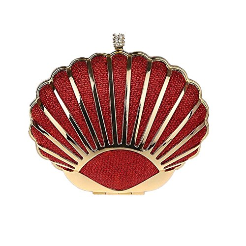 Red Silk Clutch Bag - 4