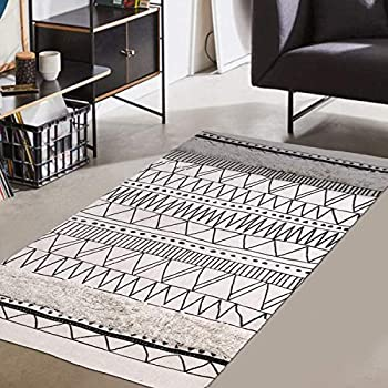 Amazon Com Rivet Black And Ivory Global Print Cotton Area