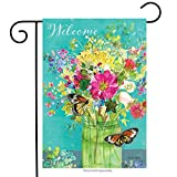 Briarwood Lane Spring Mason Jar Garden Flag Floral Welcome Butterfly...