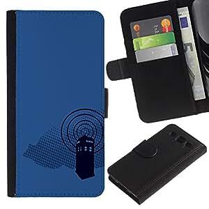 LECELL--Cuero de la tarjeta la carpeta del tirón Smartphone Slots Protección Holder For Samsung Galaxy S3 III I9300 -- Dr 0MS Cabina de teléfono --