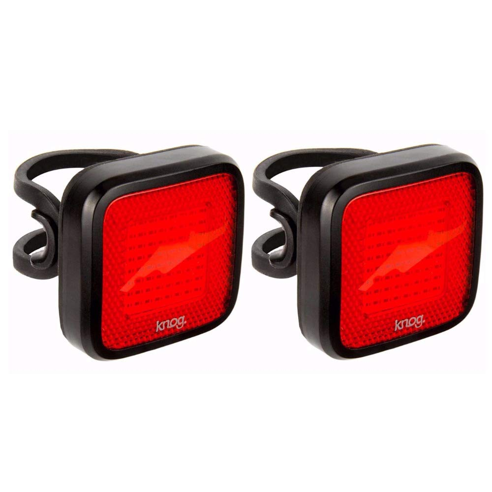 KNOG Blinder Mob Mr Chips Bike Light 2-Pack: USB Rechargeable, Waterproof, Bright Rear Bicycle LED Tail Lights by KNOG