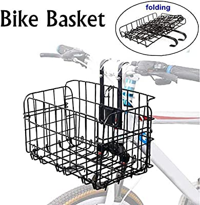Detachable Cycling Foldable Bike Basket for Front Rear Storage Basket