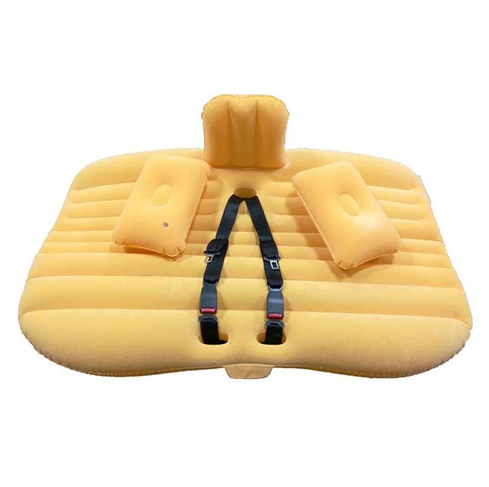 D&F Car Travel Aufblasbare Matratze Air Bett Kissen Camping Universal SUV Extended Air Couch für Kind mit zwei Luftkissen und Sitzgürtel