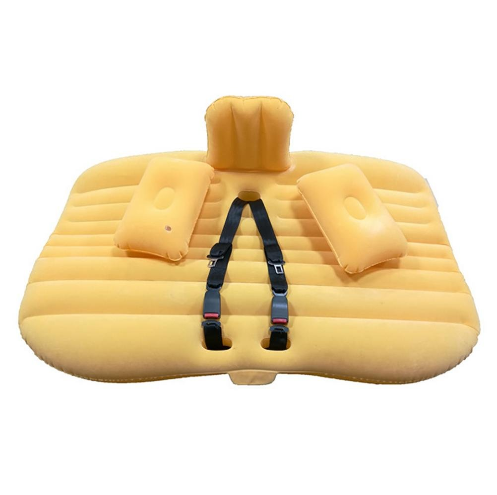 Lameila Car Travel Inflable colch/ón Air Bed Cushion Camping Universal SUV Sof/á de Aire extendido para ni/ño con Dos Almohadas de Aire y cintur/ón de Seguridad
