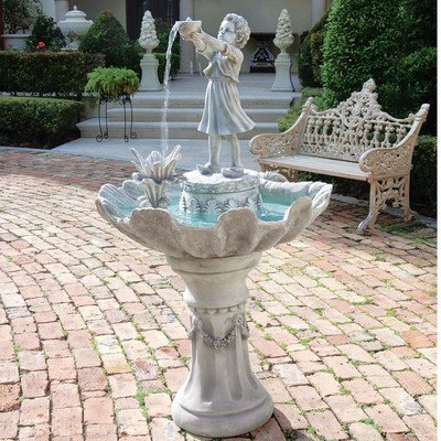 Water Fountain - 4 Foot Tall L'Acqua di Vita Garden Decor Fountain - Outdoor Water Feature by Design Toscano