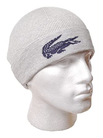 2814f4cc3 Lacoste Ski Beanie | RB5459 | DNY (Stone Marl | FVD): Amazon.co.uk ...
