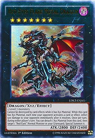 Yu Gi Oh Dragón Metálico De Ojos Rojos Ldk2 Enj41 Decks Legendarios Ii 1ª Edición Ultra Raro Toys Games