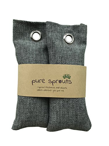 Charcoal Inserts (SALE Ends Jan 31!! Pure Sprouts ♻ Reusable Bamboo Charcoal purifying bags, The Eco-friendly Way to Deodorize and Purify Shoes, Drawers, Containers, or any tight, stuffy space.)