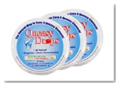 Three Lollies Queasy Drops (21 Piece Container) Assorted for Nausea Relief, 3 Count