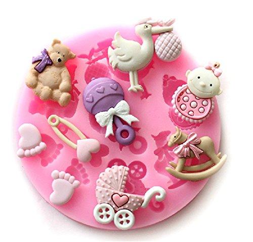 SNW Cartoon Fondant Mold Soap Silicone Bakeware Chocolate Mold Cake Decoration