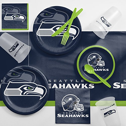 Creative Converting Seattle Seahawks Game Day Party Supplies Kit