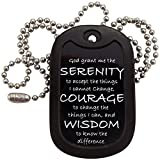 Military Dog Tags - Serenity Prayer Dog Tag Necklace - Tag-Z