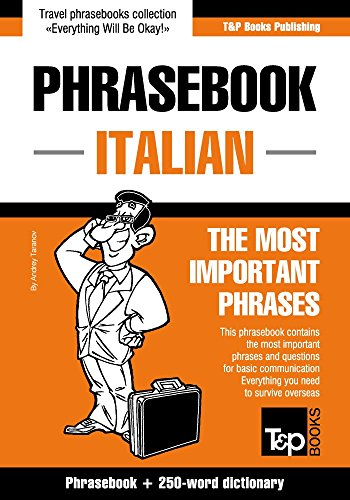 English-Italian phrasebook and 250-word mini dictionary...