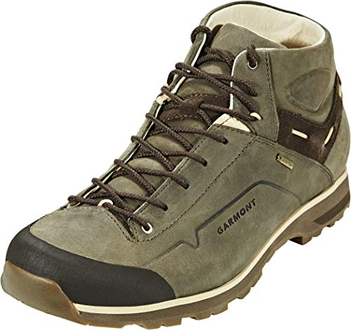 Garmont Men's Miguasha Mid Nubuck GTX Shoes Olive Green/Beige 9.5