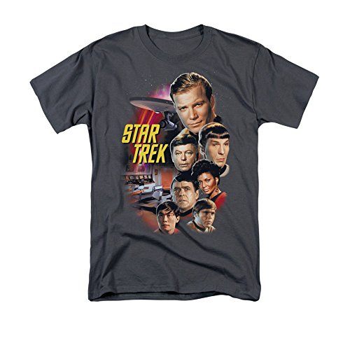 Star Trek Herren T-Shirt Opaque grau grau