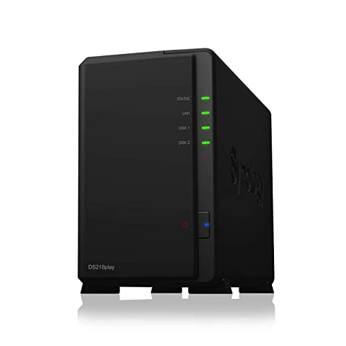Synology Serveur NAS ds218play (2 baies) sans disque, 1 Go
