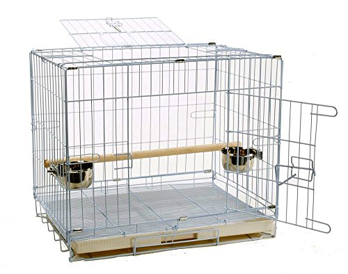 Parrot Travel Carriers (Parrot Bird Travel Top and Side Door Cage Foldable Carrier, 24