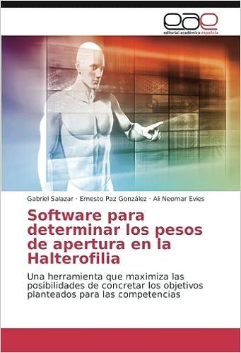Software para determinar los pesos de apertura en la Halterofilia ...
