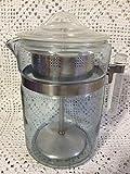 Cheap Vintage Pyrex 6 cup Coffee Pot w/ Glass Stem and Basket