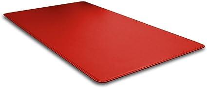 Herms cm 90x60 Eglooh produit en Italie Sous-main pour bureau en cuir Gris Anthracite avec angles ronde et antid/érapant