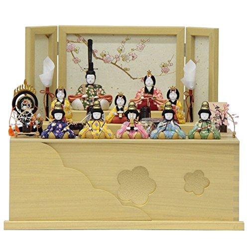 雛人形 十人揃収納飾り 木目込み人形(10人) 幅56cm 183to2121 一秀 名匠   B075J7HTCV