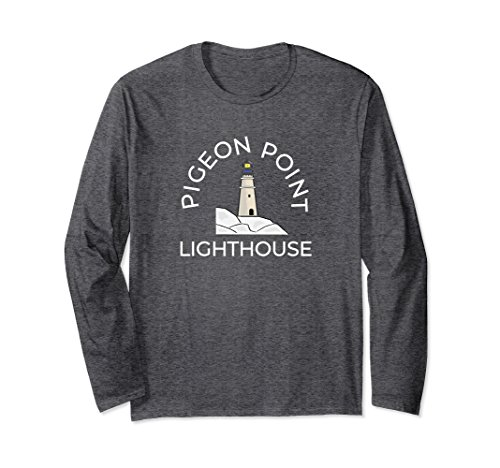 Unisex Pigeon Point Lighthouse California Pacific Coast Large Dark Heather