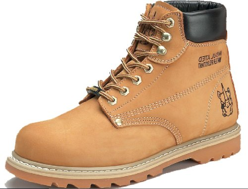 (Rhino 6 inch Plain toe Nubuck Work Boot (13) WHEAT)