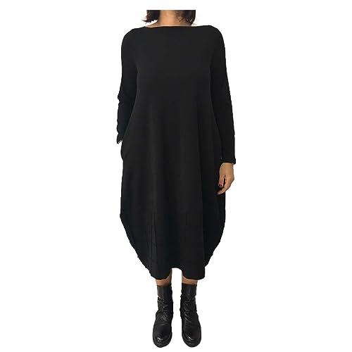 TADASHI abito donna nero 94% cotone 6% elastan MADE IN ITALY