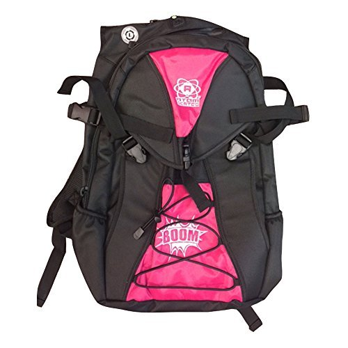 Atom Roller Derby Quad Skate and Inline Skate Sport Backpack w/ FREE Devaskation Lanyard - 2017 Pink