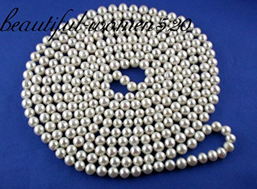 9mm White Fw Pearl Necklace - 3