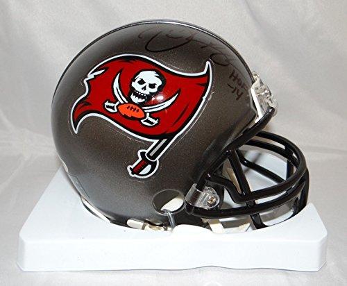 - Derrick Brooks Autographed Tampa Bay Buccaneers Grey Mini Helmet- PSA/DNA Auth