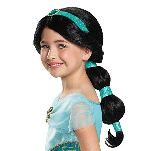 Princess Jasmine Costumes Girls (Jasmine Disney Princess Aladdin Wig, One Size Child)