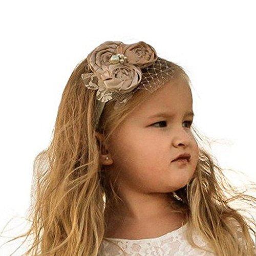 Ivory vintage baby flower headband