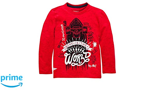 Amazon.com: OFFCORSS Boys Long Sleeve Tshirt Camiseta Para Niños Manga Larga Red 18 Months: Clothing