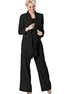 Wzw Lace Mother Of The Bride Pant Suits With Jackets Scoop Neck