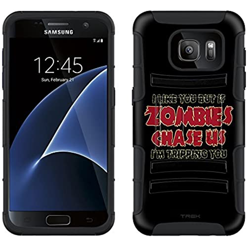 Samsung Galaxy S7 Armor Hybrid Case I Like U But If Zombies Chase Us Red on Black 2 Piece Case with Holster for Samsung Galaxy S7 Sales