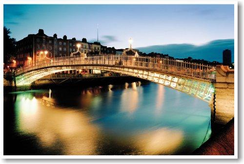 Ha'penny Bridge Dublin, Ireland - NEW World Travel Poster