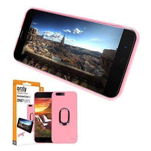 Funda Ultra-Fina de Orzly para el OnePlus 5, Carcasa Protectora Slim-Stand [Anti-Arañazos] para el OnePlus 5 en ROSA con...