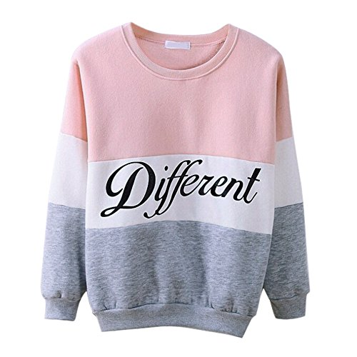 Misscat Girls Teens Cute Hoodies Sweater Pullover Letters Diffferent Printed Mix Color (US M/Tag XL, - Pink Mix Color