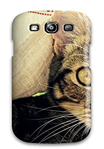 New QzGkSSY1423mdJob Superb Kitten Skin Case Cover Shatterproof Case For Galaxy S3