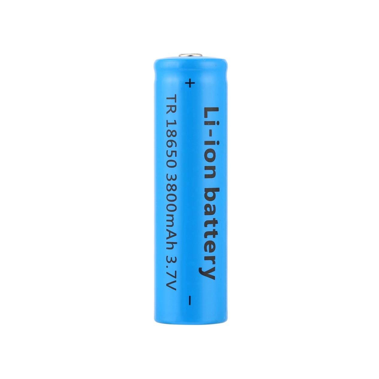 3800mAh 3.7V Li-Ion Akku, 18650 Li-Ion 3800mAh große Kapazität 3.7V Akku für LED-Taschenlampe blau neue Taschenlampe Batterien Ironheel