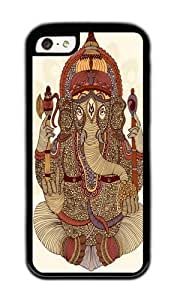 Apple Iphone 5C Case,WENJORS Cute Ganesha Lord of Success Soft Case Protective Shell Cell Phone Cover For Apple Iphone 5C - TPU Black