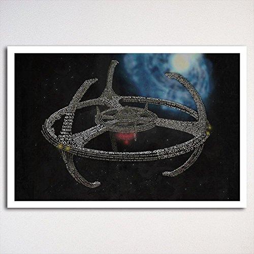 Star Trek: Deep Space Nine typography poster