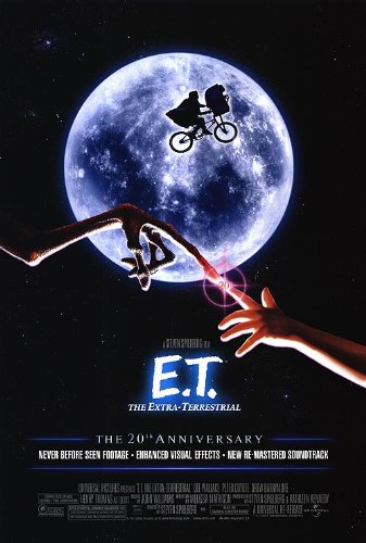 E.T. THE EXTRA TERRESTRIAL MOVIE POSTER 2 Sided ORIGINAL 20th Ann. FINAL 27x40