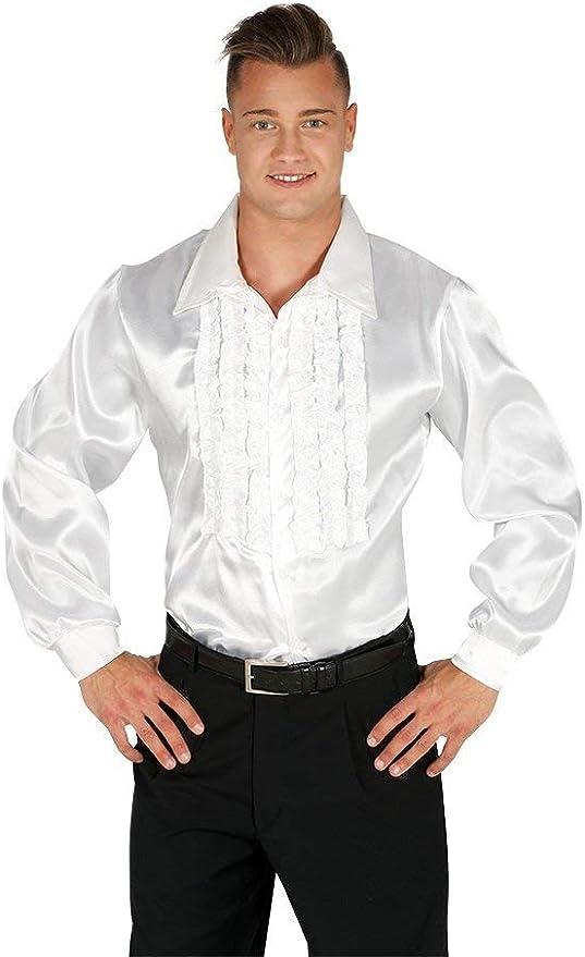 FIESTAS GUIRCA Camicia Bianca con rouches Disco Anni 70