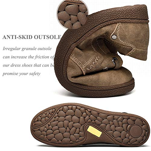 con Casual Oxford Dress Rosso Mocassini Fashion in Men Shoes Pelle Soft Marrone Slip Uomo Shoes for YgAqwYd