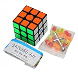 D-FantiX Gan 356 Air Master 3x3 Speed Cube Gan356 Air Magic Cube Puzzles Black with New Blue Cores